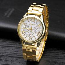 Women's Casual Geneva Quartz Watch Roman Numberals Alloy Fashion Ladies Watches