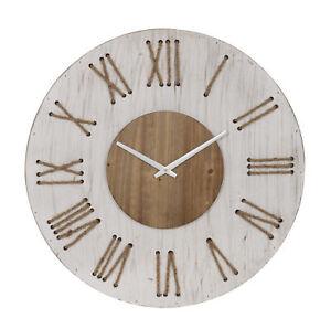 Amalfi Hedland Wall Clock Whitewash/Natural 68x4.5x68cm
