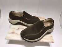 LL Bean Brown Suede Slip on Loafers Casual Comfort Shoes Womens Size 6 M