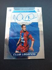 More details for ian wright crystal palace panini club legends autograph card signed