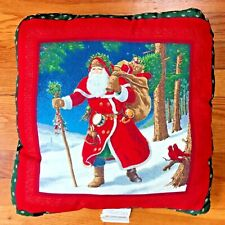 Christmas Santa Clause Pillow 14X14 Made in USA