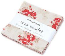"Miss Scarlet Moda Charm Pack 42 100% Cotton Fabric 5"" Precut Quilt Squares"