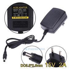EU-Stecker Netzteil Netzadapter AC100-240V auf/zu DC15V 2A Adapter 5.5mm X 2.5mm