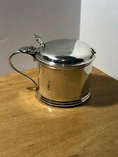 Antique Deakin & Francis Solid Silver Mustard Pot