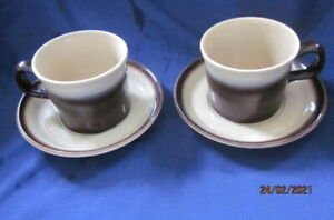 WEDGWOOD MONTEREY 2 X TEA CUPS AND SAUCERS VGC