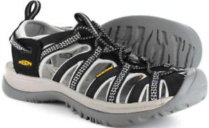 Keen Whisper Black/Neutral Gray Sport Sandal Women's sizes 5-11/NEW!!!