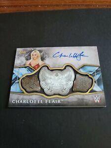 2017 Topps Legends of WWE Auto Charlotte Flair  24/99 Divas Championship