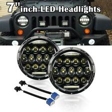 7''inch 200W Round LED Headlights DRL Hi/Low For Jeep Wrangler GQ PATROL 2pcs