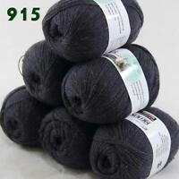 Sale Lot of 6 balls x 50g LACE Soft Acrylic Wool Cashmere hand knitting Yarn 915