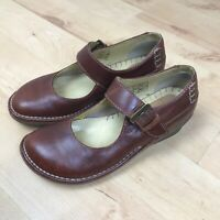 Dr Martens Womens 11983 Brown Leather Mary Jane Shoes UK 4 VGC