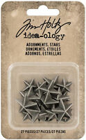 Tim Holtz® Idea-ology® Adornments, StarsTH93562 NEW