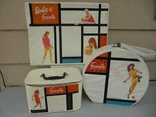Barbie & Francie 1965, 3 Pc.Vinyl Doll Case Set - Rare