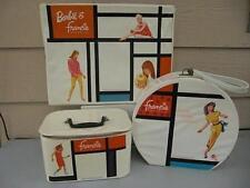 Barbie & Francie 1965, 3 Pc.Vinyl Doll Case Set - Rare