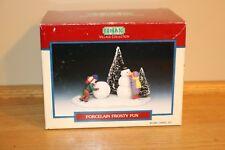 Lemax Porcelain Frosty Fun 1996 Village Collection