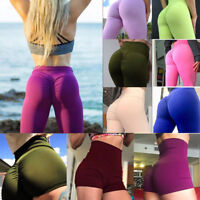 Women Yoga Sport Pants High Waist Fitness Leggings Short Push Up Gym Scrunch