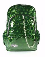 CHOK HOLO GREEN 3D REFLECTIVE BACKPACK RUCKSACK Unisex School College Bag