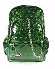 CHOK HOLO GREEN 3D REFLECTIVE BACKPACK RUCKSACK Unisex School College Bag