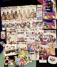 Large 50+ Spice Girls Memorabilia Lot Keychains Pens Books Stage Figure Doll Etc