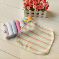 8 Pcs Soft Cotton Infant Newborn Bath Towels Washcloth Baby Feeding Wipe Cloth