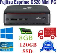 Fujitsu Esprimo Q520 Mini PC i5- 4th gen CPU 8GB Ram 120GB SSD WIN 10 (No DVD)