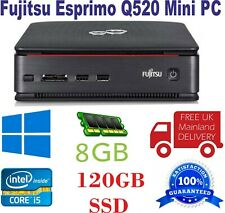 Fujitsu Esprimo Q520 Mini PC i5- 4th gen CPU 8GB Ram 120GB SSD WIN 10 (No DVD )