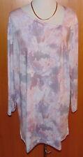 IN-PRINT Shirt, 1/1-Arm asymmetrischer Ausschnitt  Gr.44/46  QVC