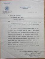 'GREEN H. HACKWORTH,' Judge 1936 Autograph, Signed-Letter/Letterhead - TLS