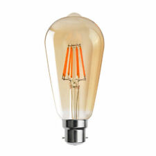 B22 Vintage Industrial Filament LED Light Lamps Bulbs Squirrel Cage Edison a St64 Tear Drop 6w