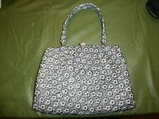 60's Grey Faux Leather -Leatherette  Kelly Flat Lady Purse