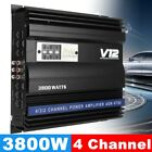 3800W Car Amplifiers 4 Channel Stereo Audio HiFi Super Bass Subwoofer 12V Amp US