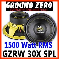 Ground Zero GZRW 30XSPL 30cm Subwoofer 300mm BASS WOOFER 1500WATT Auto PKW  D2