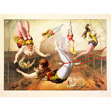 CIRCUS BARNUM BAILEY LADY ISTS ACROBAT TRAPEZE BIG TOP USA Canvas art Prints