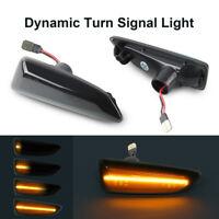 Smoke Dynamic LED Side Marker Blinker Light For Opel Astra J K Insignia B Zafira