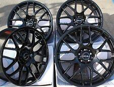 """18 """"Negro Dtm ruedas de aleación se adapta a Mercedes C E M S Class Klass Clk Clc Cls Sl Slk"""