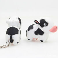 LED  Keyring Portable Little Cow with Sound Key Holder Mini Torch Flashlight