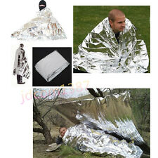 Mylar Waterproof Survival Emergency Space Foil Thermal Blanket First Aid Rescue