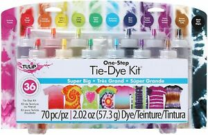 DC31679 One Step Tie-Dye Kit 12 Colour Superbig Permanent And Colour-Fast