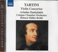CD album: Tartini: Violin Concertos. Helmut Müller-Brühl. naxos. M