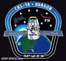 CRS-14 - SPACEX ORIGINAL FALCON-9 DRAGON F-9 ISS NASA RESUPPLY Mission PATCH