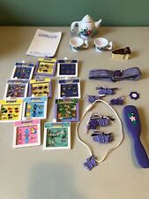 Vtg Amazing Ally Interactive Doll Accessories Clips/Books/Tea Party Set Lot✔�