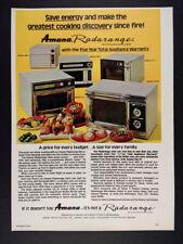 1974 Amana Radarange Microwave Oven 5 Models photo vintage print Ad