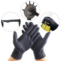 100Pcs Comfortable Rubber Disposable Mechanic Nitrile Gloves Black Medical Exam