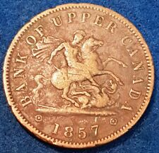 1857 Bank Of Upper Canada Penny Token   ID #A10-34