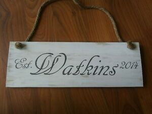 Custom made Personalized wood sign. Rustic sign