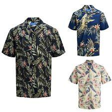 JACK&JONES Hombre Camisa Larga Corta Vestir Casual estampados 23026