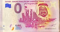 BILLET 0  EURO QATAR SHEIK KHALIFA BIN HAMAD AL THANI QUATAR  2019   NUMERO DIVE