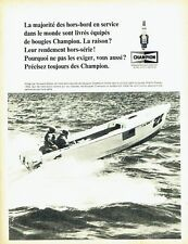 Publicité Advertising 037  1966   Bougies Champion  hors-board  Horward Weiler