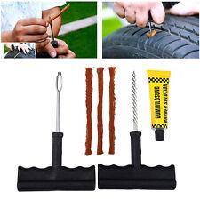 Motorcycle/Car Tubeless Tyre Puncture Repair Kit Tool Tire Plug Auto 6 In 1 Set