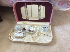 Vintage 8Pc Vanity Dresser Set With Case