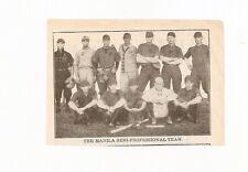 The Manila Semi-Professional Baseball 1912 Team Picture